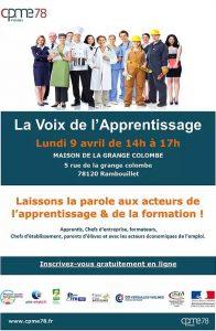 Voix de l'apprentissage lundi 09 avril 2018 de 14h à 17h à la Maison de la Grange Colombe, Rambouillet